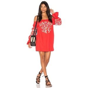 Free People Fleur Du Jour Embroidered Mini Dress M